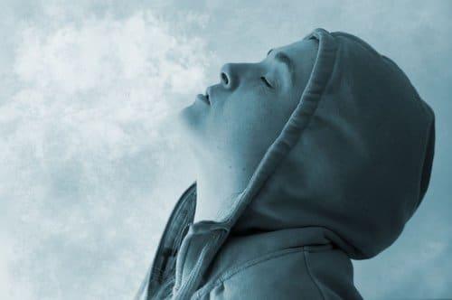 frosty breath outside