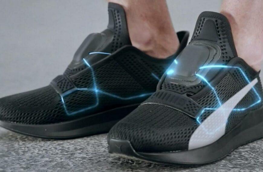 Self-Lacing Training Shoe