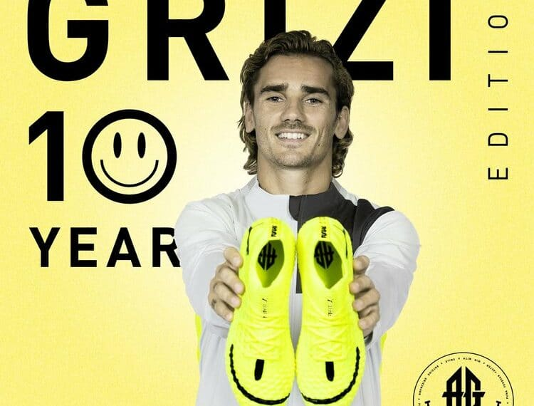 Antoine Griezmann Co-Designs A Football Boot To Celebrate Ten Years Of His Professional Career