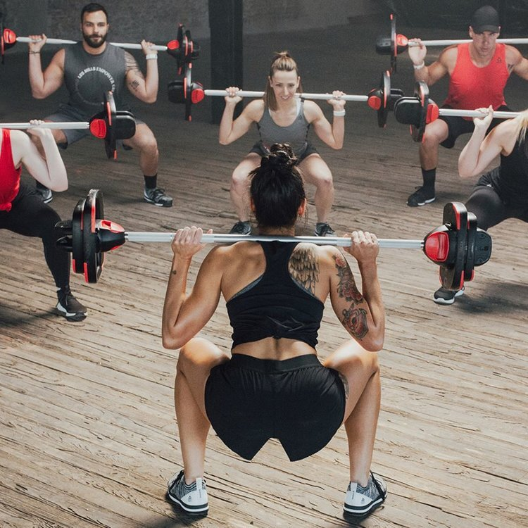 people doing weights