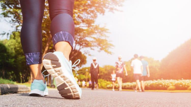 fitness runner in park