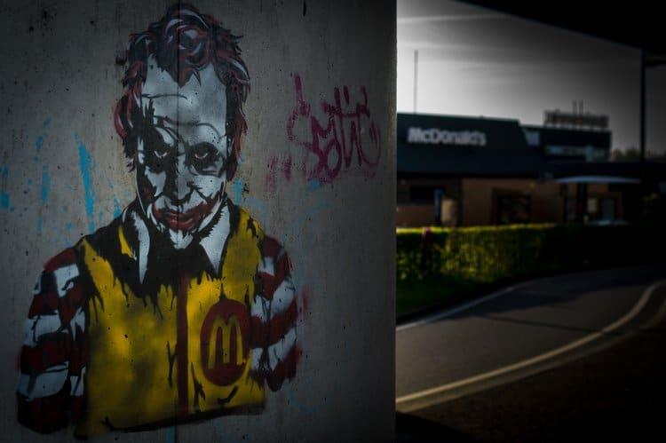 mcdonalds joker graffiti