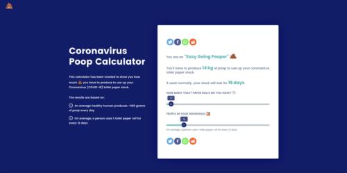 coronavirus poop calculate
