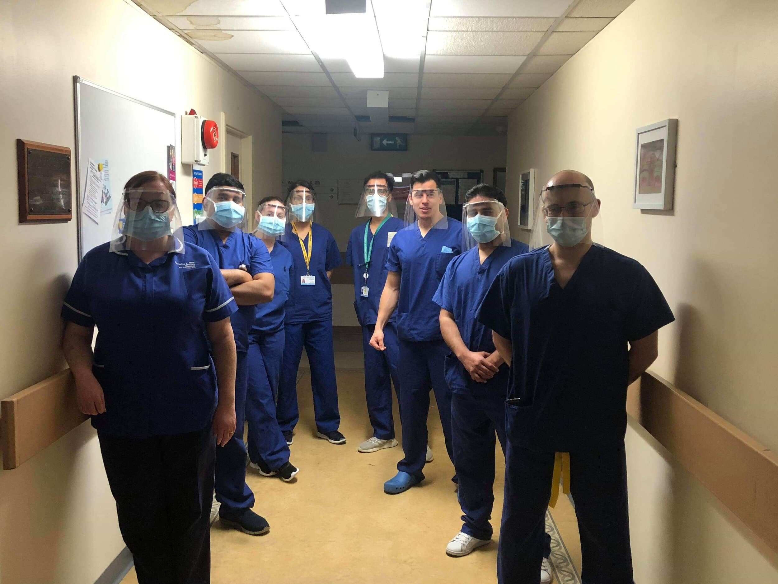 NeurosurgeryteamatRoyalPrestonHospitalwearingChrisJohnsonsPPEMaks