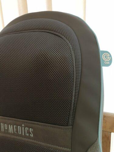 close up of the homedics gel shiatsu and shoulder massager