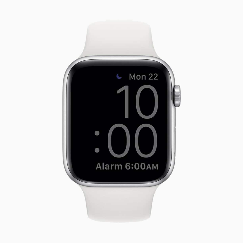 Apple watch watchos7 sleep mode dim 06222020