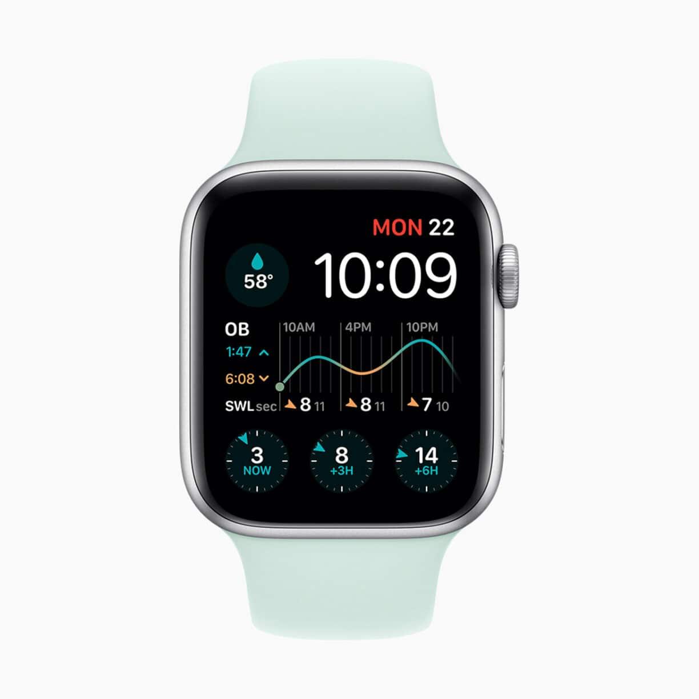 Apple watch watchos7 surfing watch face 06222020