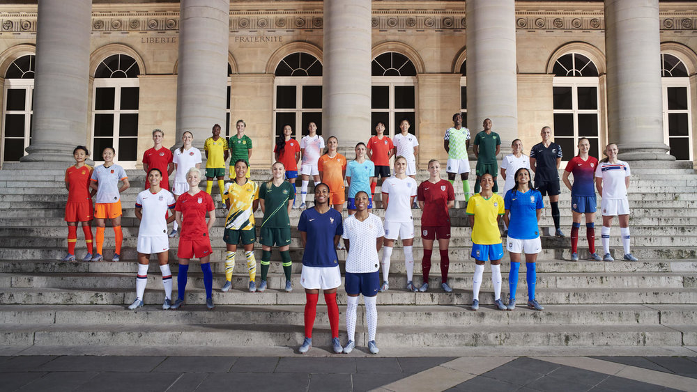40 Of The World's Top Female Athletes Gather In Paris To Unveil 14 National Team Collections