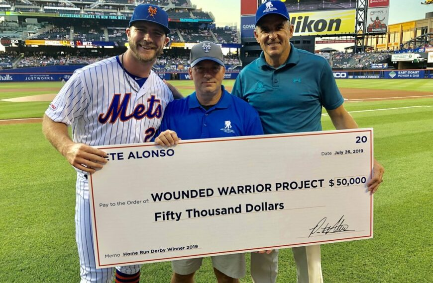 N.Y. Mets' All-Star Donates $50,000 to Wounded Warrior Project