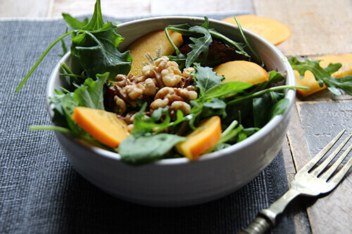 Raise Your Salad Game With This Delicious Recipe of Persimmon & Caramelised Walnuts