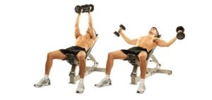 chest flyes with dumbbell