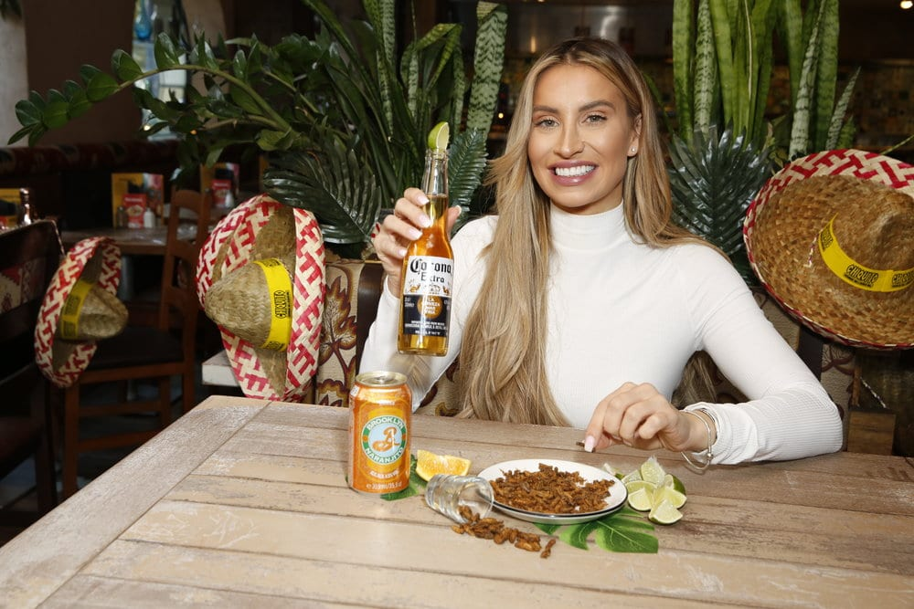 Grubs Up! TV's Ferne McCann Gets A Buzz Out Of Bugs As She Tries Chiquito's New Edible Insects