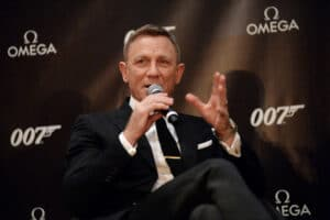 no time to die Daniel Craig at OMEGA press conference