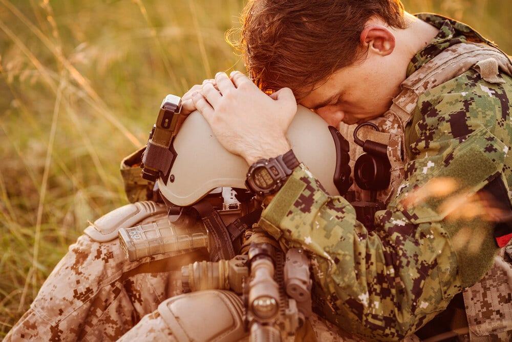 soldierwithheadinhands