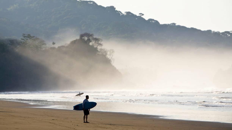 surfer on beach