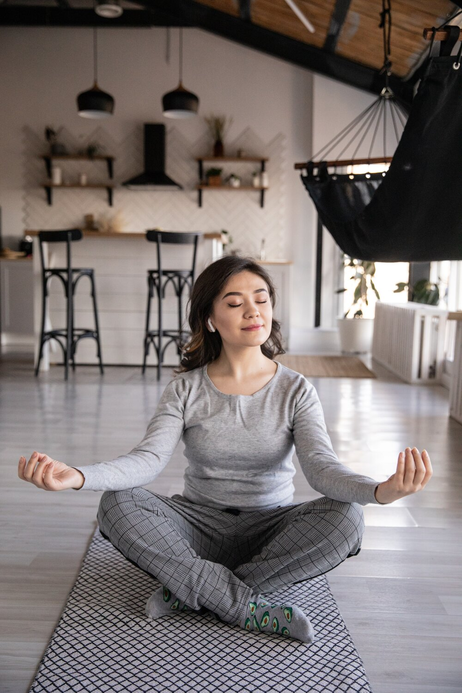 woman practicing yoga 4050218