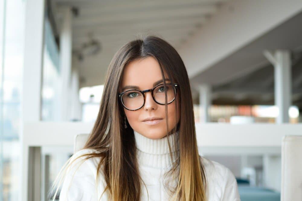 womansmileswearingglasses