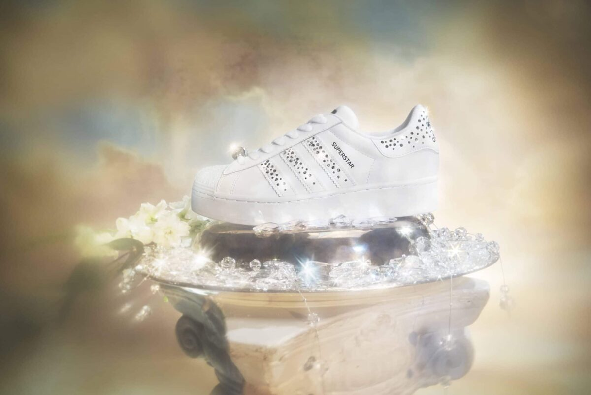 These Adidas Originals Superstar Bold W Shine Bright With Swarovski Crystals