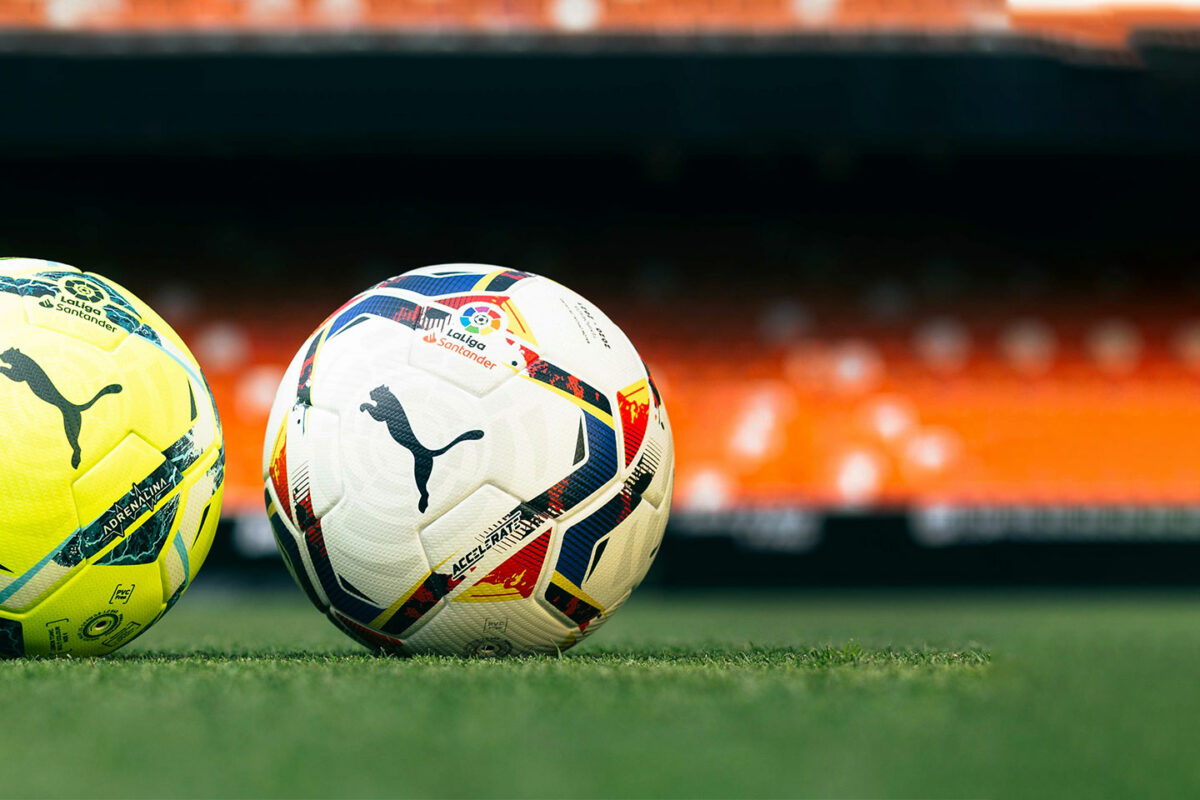 The Accelerate And Adrenalina Official Match Footballs For The 2020/21 LaLiga Season
