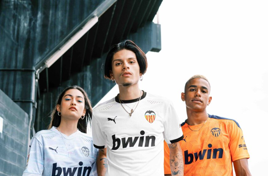 Valencia Home, Away and Third Kits for the 20/21 Season 'Born from Bravery' Motto