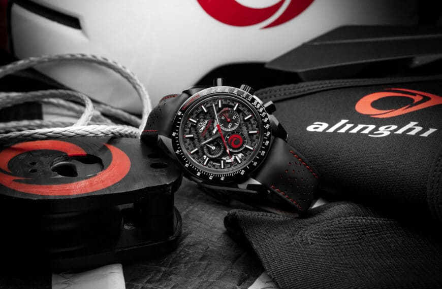 OMEGA and ALINGHI Celebrate Partnership with a Brand New Speedmaster