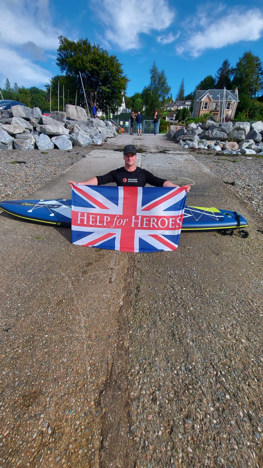 Veteran with PTSD paddleboards, cycles and runs 933km in 8 days