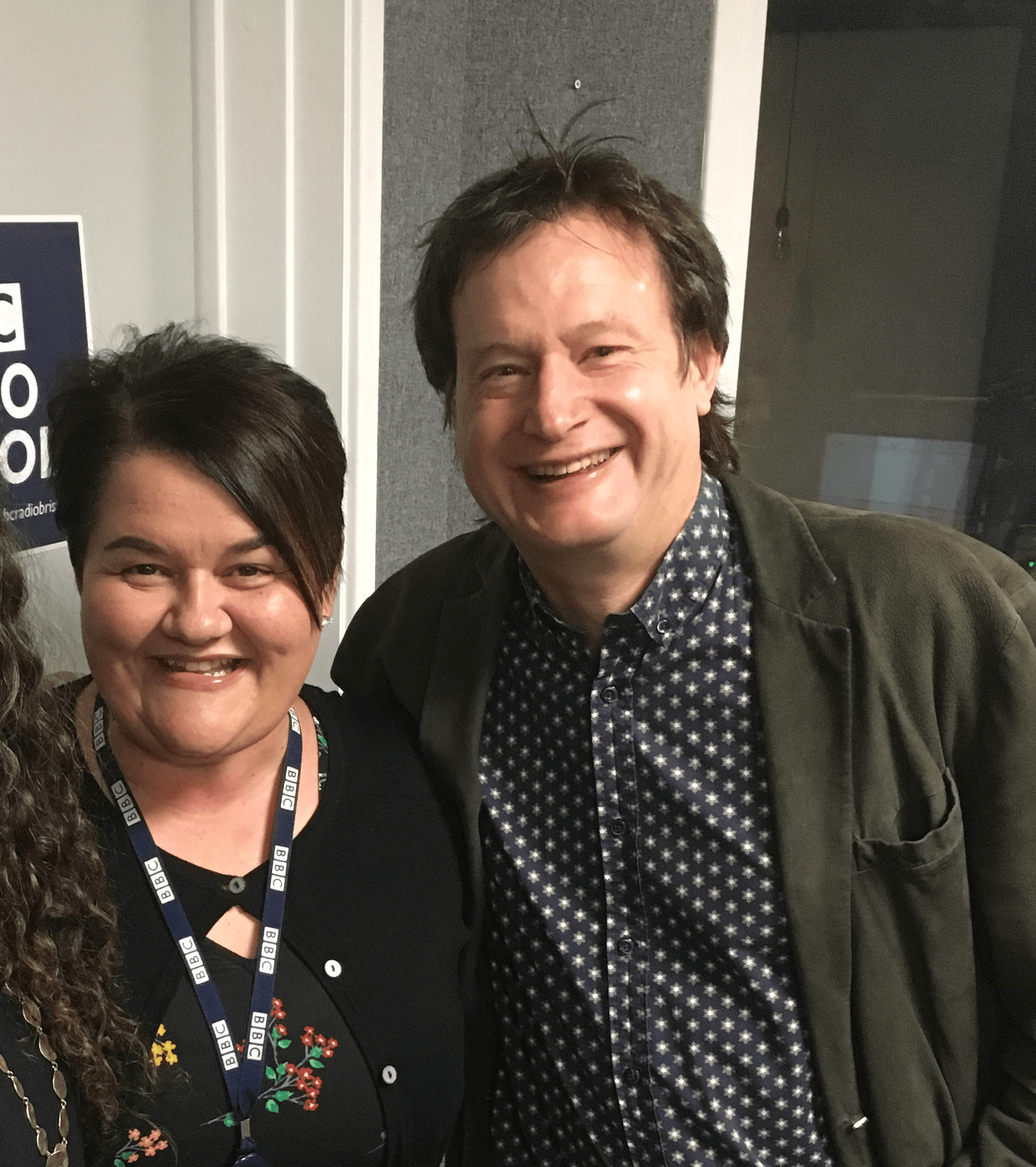 Professor Bruce Hood and the BBC's Emma Britton