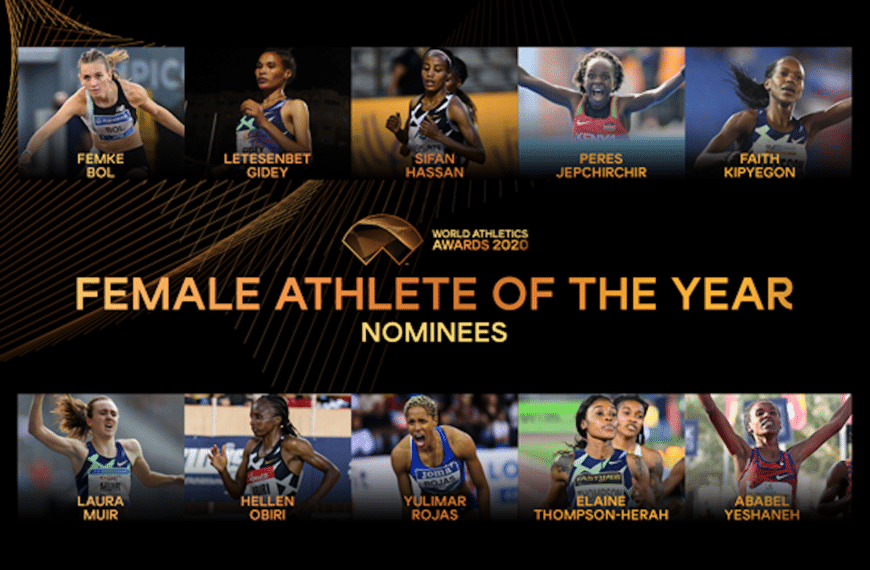 Nominees Announced for Female World Athlete of the Year 2020