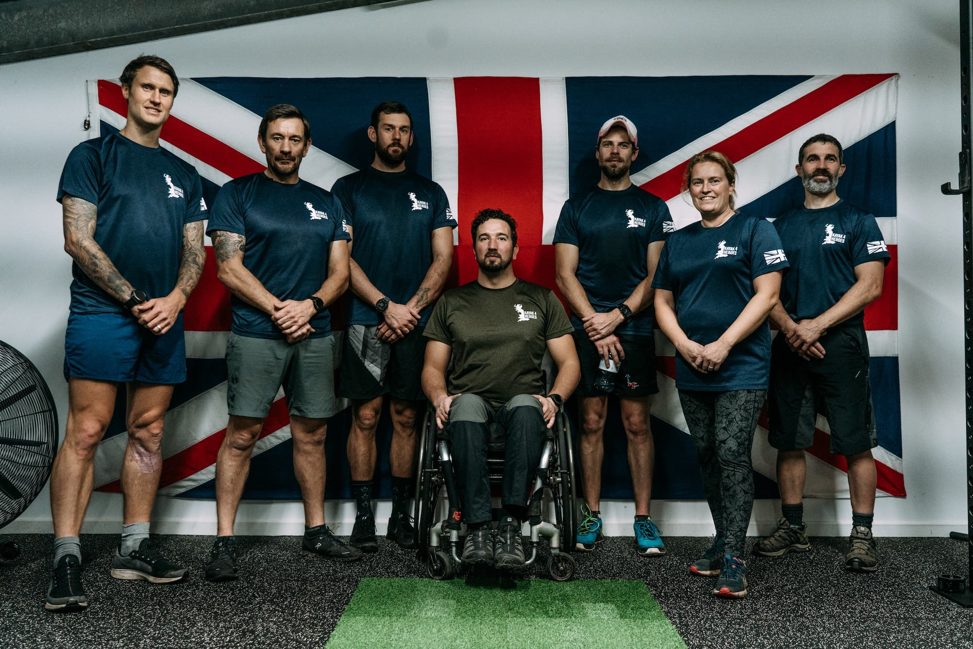 SAS Star Ollie Ollerton Mentors Disabled Ex military Team In A New World First Charity Challenge1