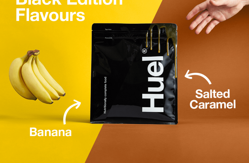 Huel Launches Salted Caramel and Banana Flavour Black Edition