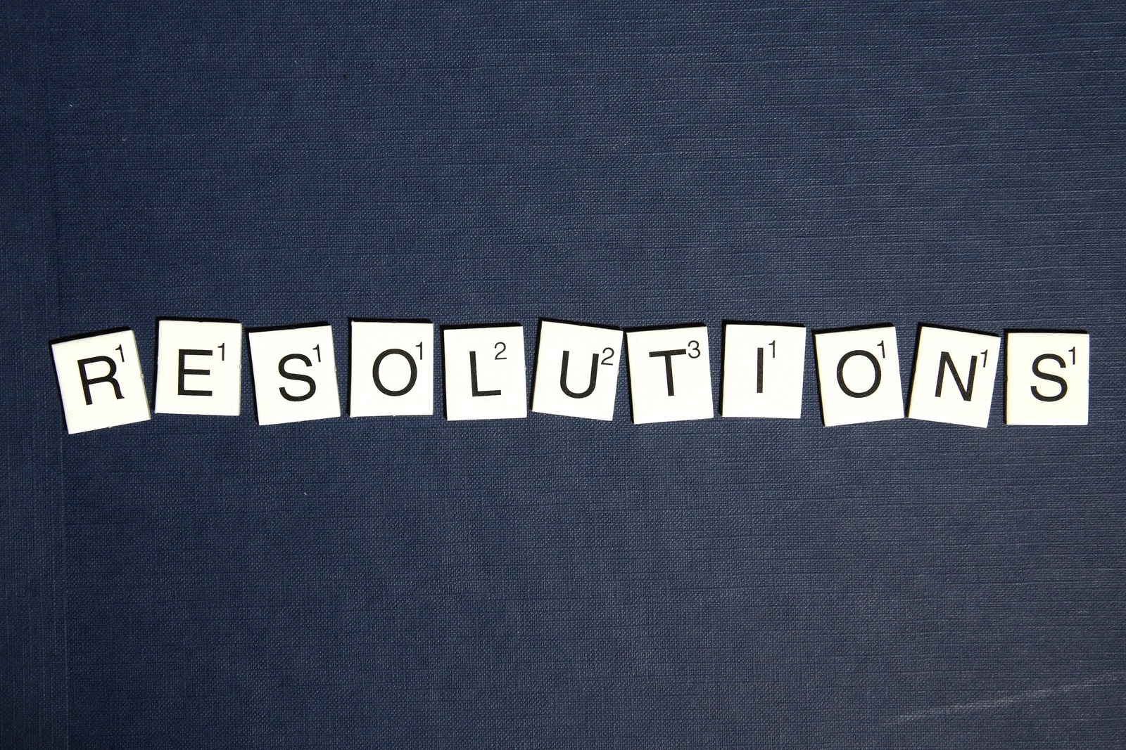resolutions in scrabble letters