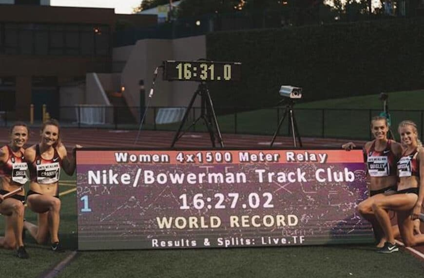 USA's 16:27.02 World 4x1500m Record