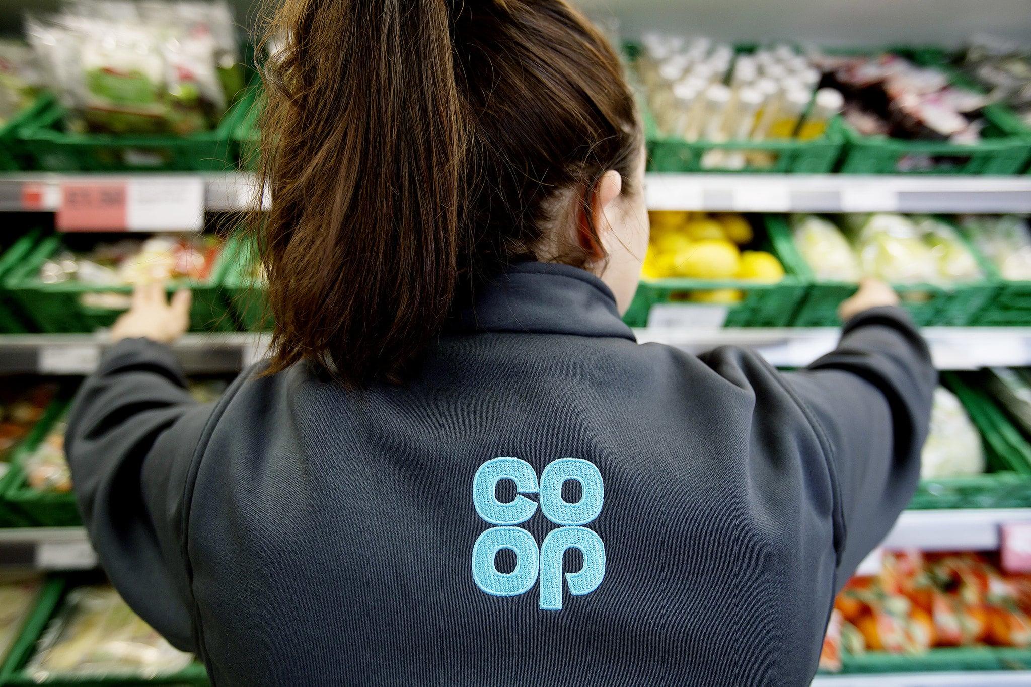 Coop store worker