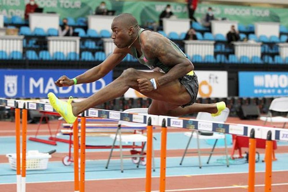 World champion Grant Holloway
