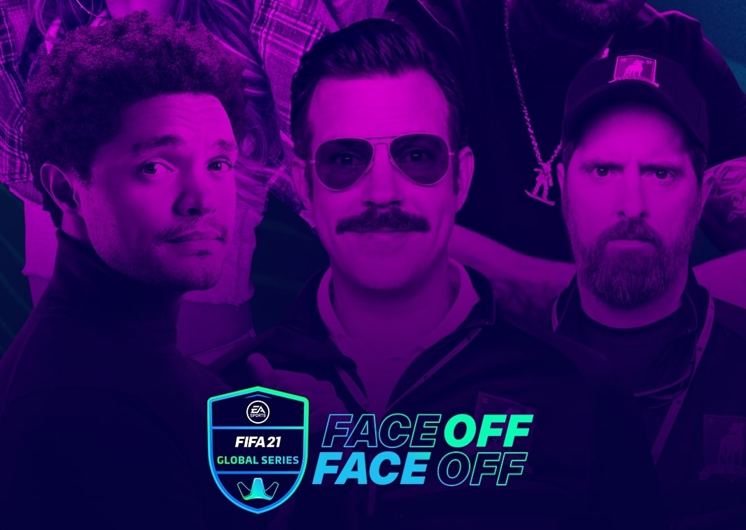 Jason Sudeikis as 'Ted Lasso Brendan Hunt as Coach Beard Trevor Noah Becky G and Nicky Jam to Compete in EA SPORTS FIFA Global Series Face off