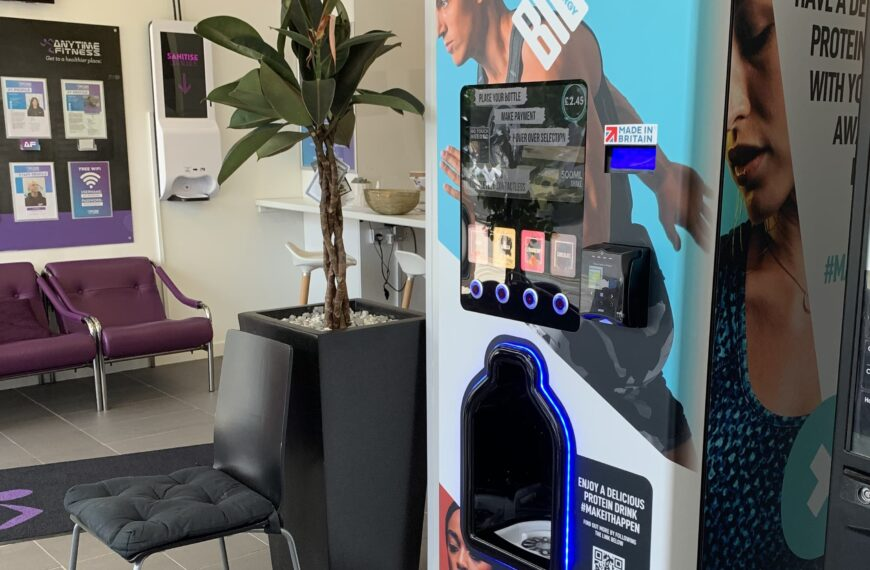 Bio-Synergy Launches Protein Shake Vending Machines at Anytime Fitness Gyms Nationwide