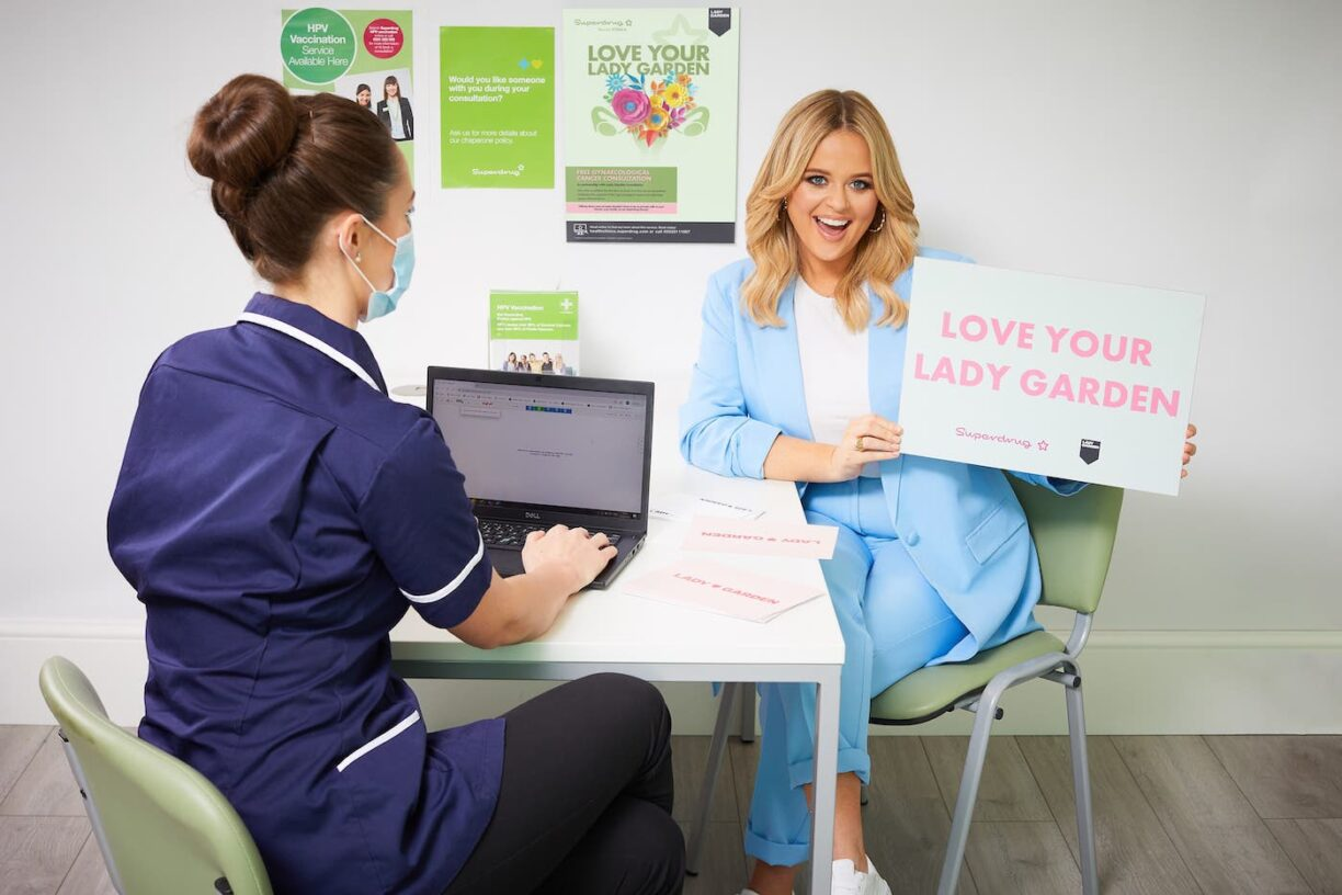 Emily Atack Superdrug 'love Your Lady Garden Campaign 1
