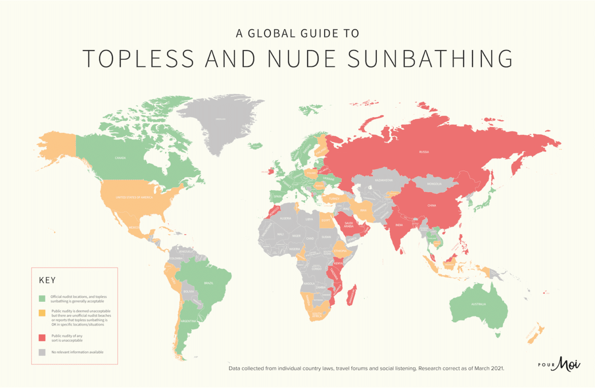 Topless & Nude Sunbathing Map Reveals All