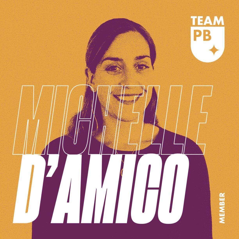 DL TeamPB Social 1080x1080px Member Michelle0DDAmico Yellow