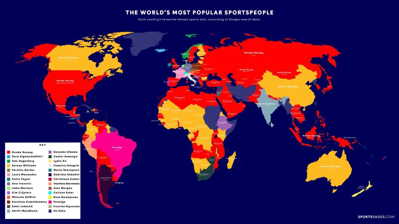 Female Map SportsShoes