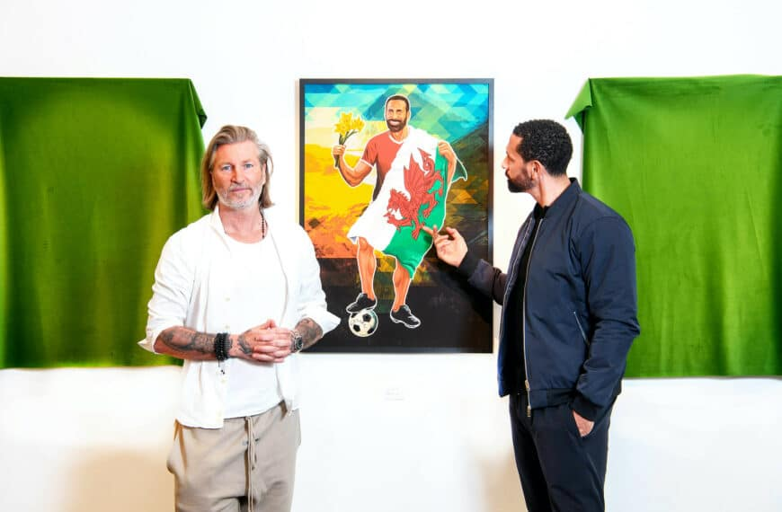 England Football Legend Rio Ferdinand Portrayed As A Welsh Icon By Friendly Rival Robbie Savage