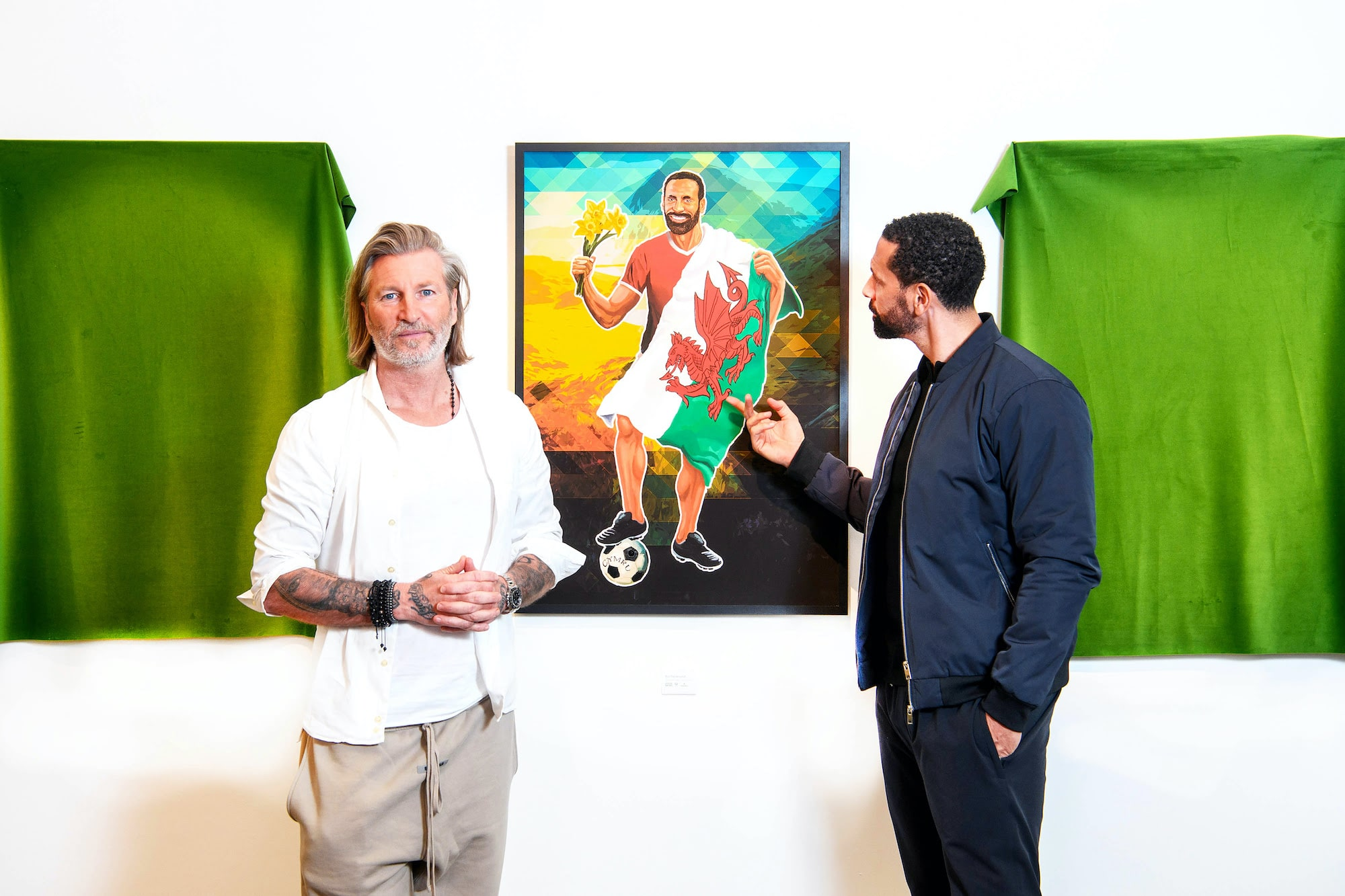 Rio Ferdinand Portrayed As A Welsh Icon By Friendly Rival Robbie Savage