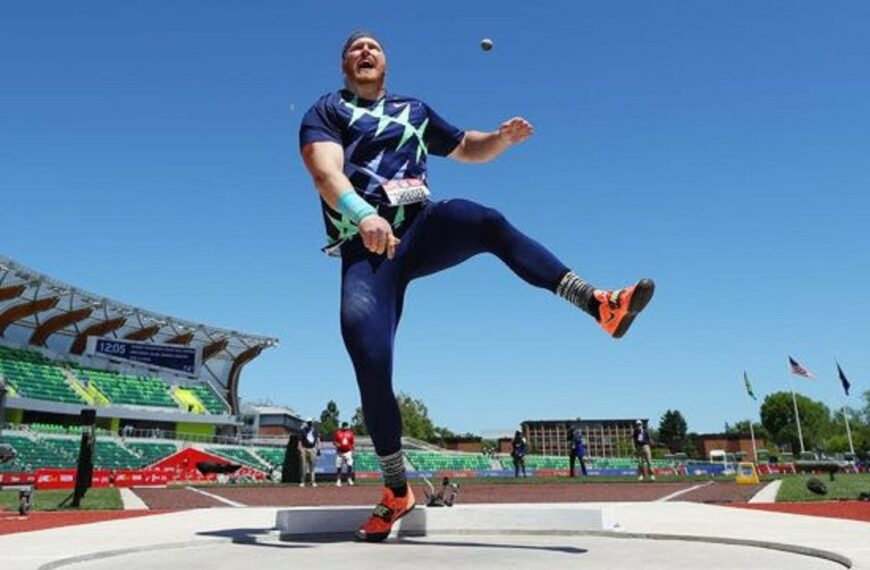 Who Owns The 2021 World Shot Put Record? Ryan Crouser That's Who, With A Stunning 23.37m Throw In Eugene