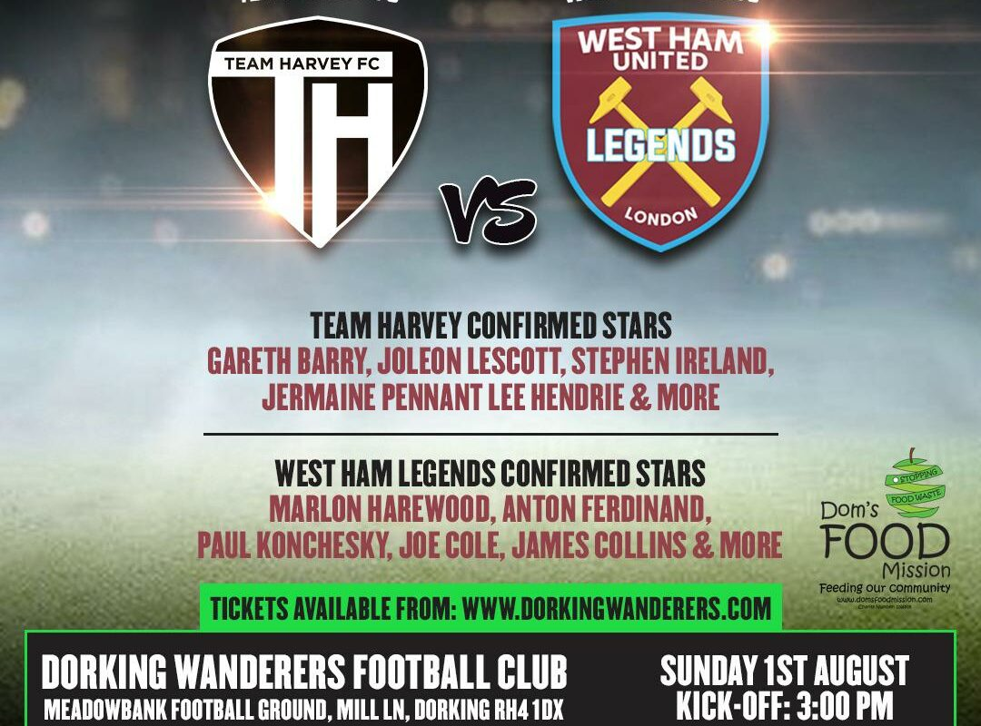 Team Harvey vs. West Ham Legends 2021 Match