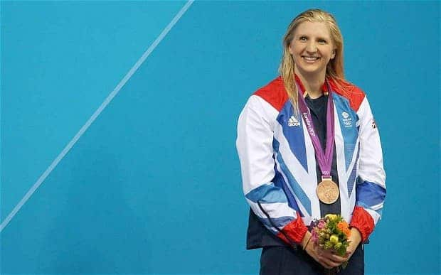 becky adlington with gold medal