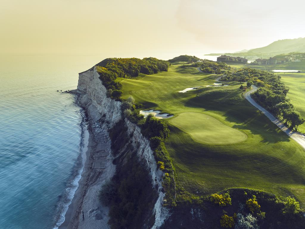 golf course overlooking the sea