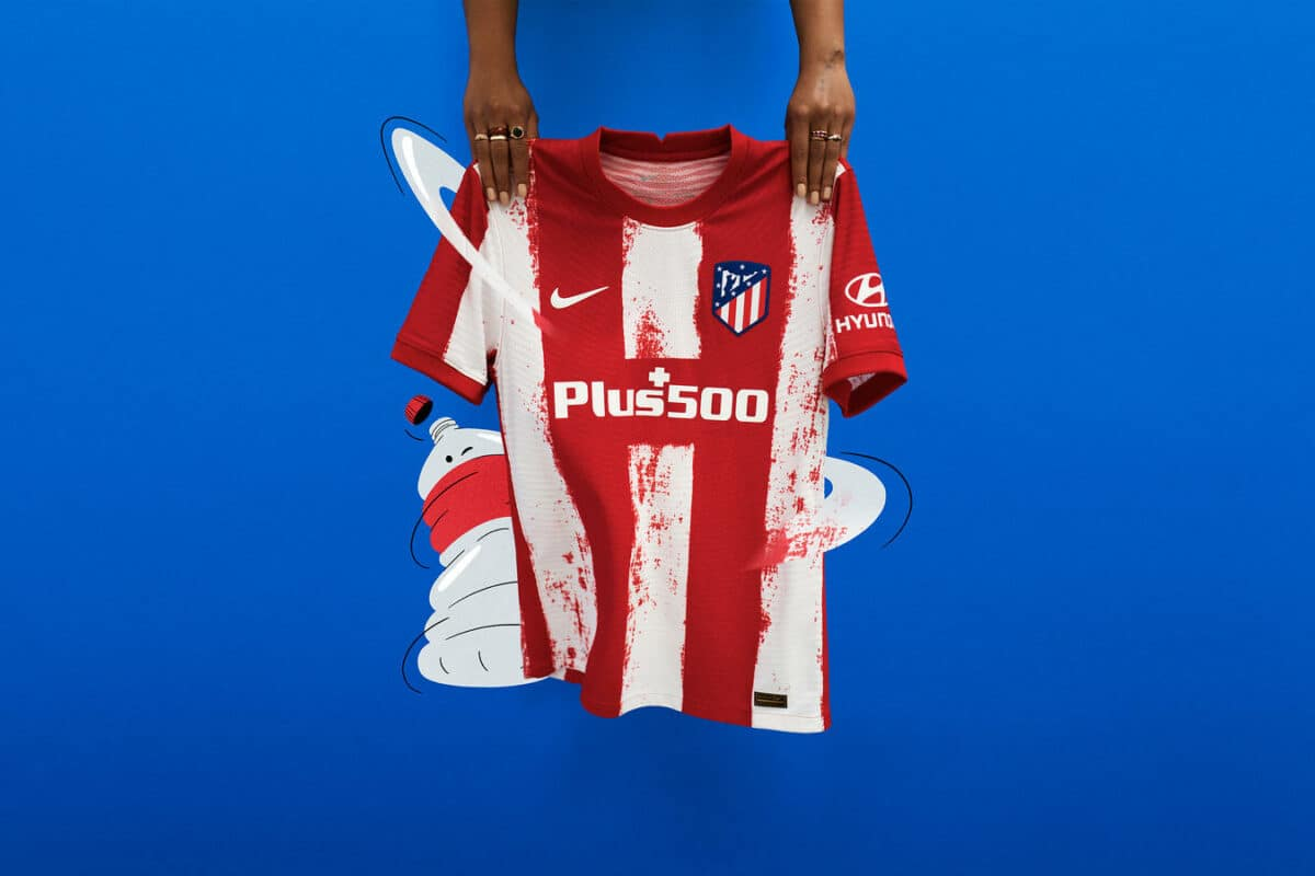 The Stripes Of Old Are Revived in Atlético de Madrid 2021 Home Kit