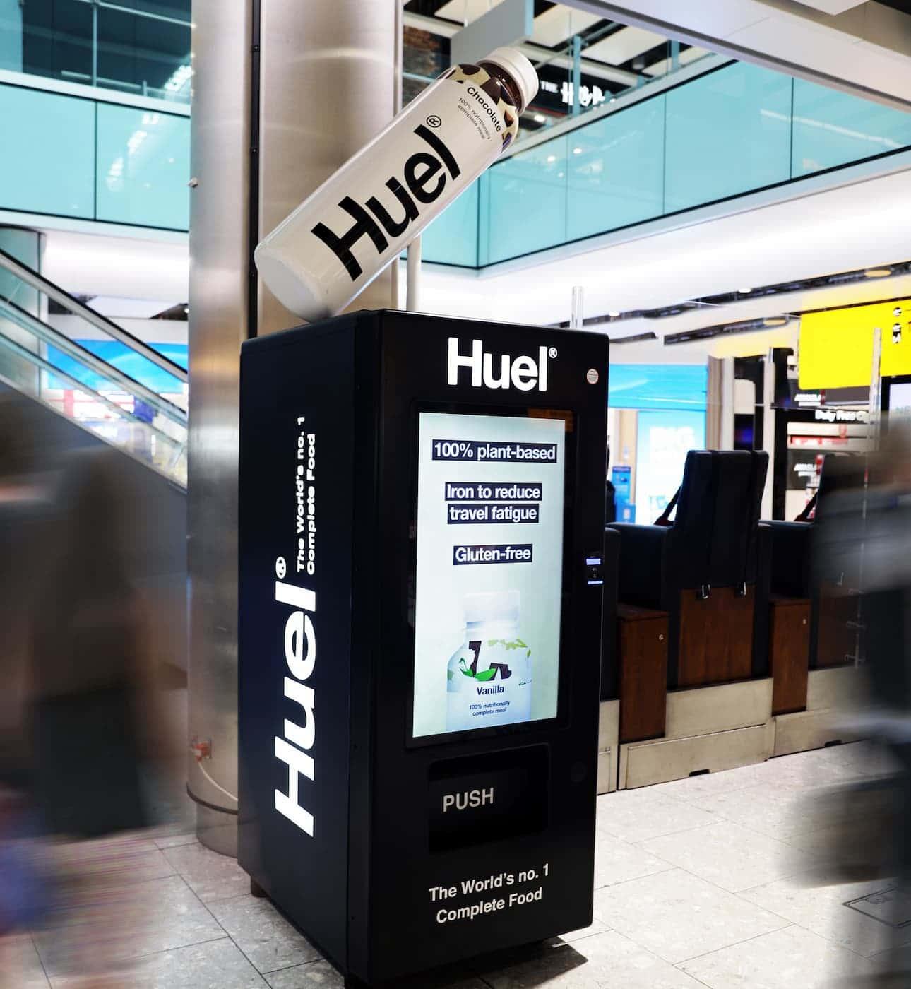 Huel Land Vending Machines Heathrow