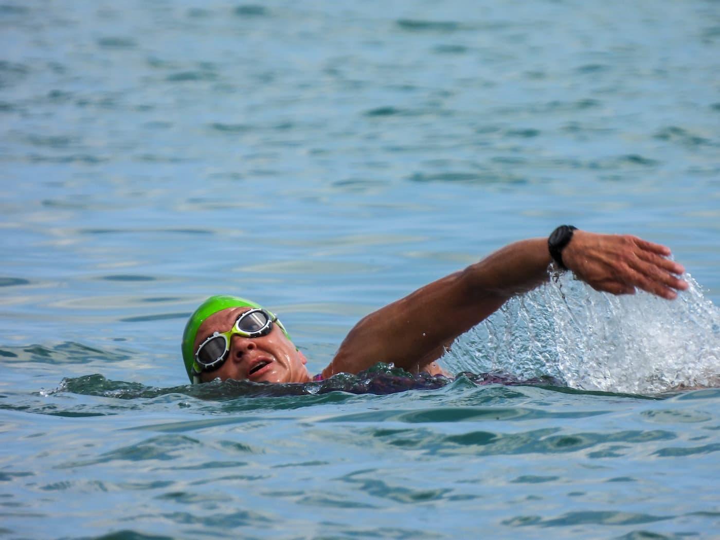Paula Craig swimming