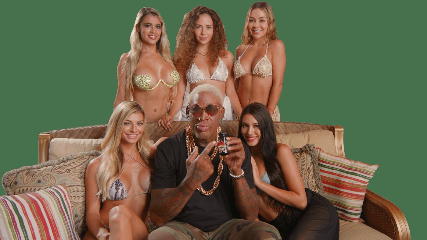 dennis rodman with models